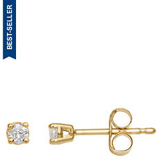 10K Gold Solitaire Earrings