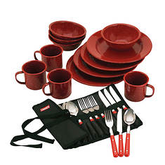 Coleman 24-Piece Enamelware Dinner Set