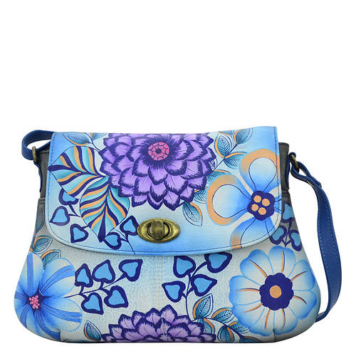 Anna by Anuschka Medium Flap Crossbody Bag