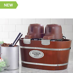 Nostalgia Electrics 4-Quart Dual Ice Cream Maker