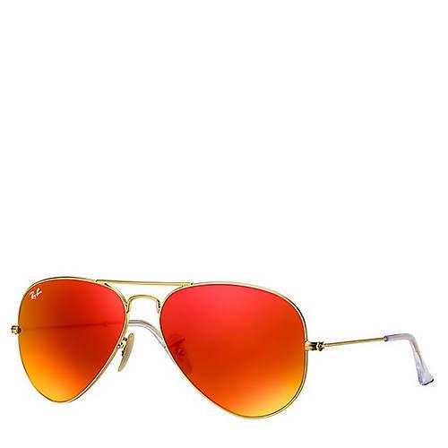 Ray-Ban Gold Aviator Flash Sunglasses