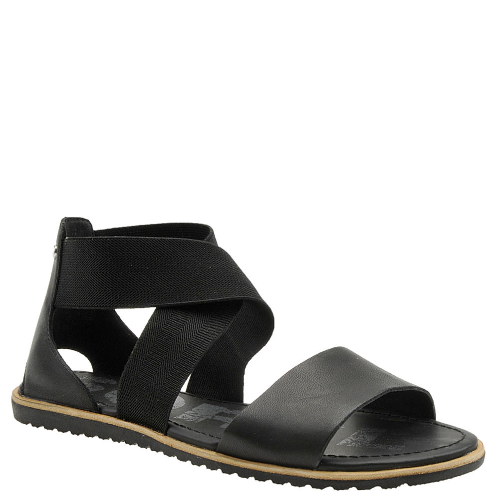 *This glam sandal is sure to collect compliments wherever you wear it *Full-grain leather and stretch elastic upper *Stretch straps for easy slip-on wear *Leather-covered EVA footbed *Molded rubber sole *1/2\\\