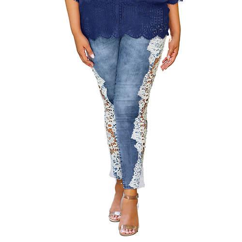 Side Lace Cutout Jean