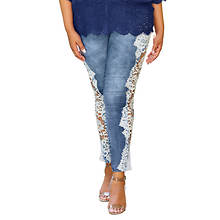 Side Lace Cutout Jean