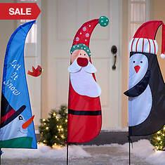 3-Pc. Christmas Yard Flags