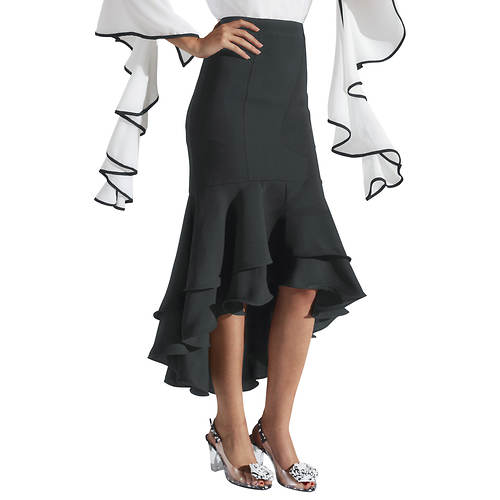 High-Low Ruffled Skirt