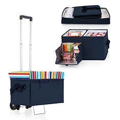 Picnic Time Ottoman Cooler and Seat with Trolley