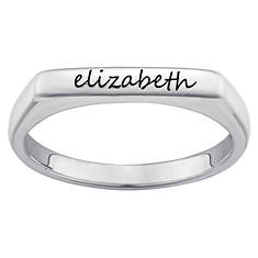 Personalized Engraved Rectangle Stack Ring