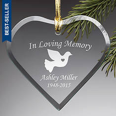 Personalized Glass Ornament - In Loving Memory