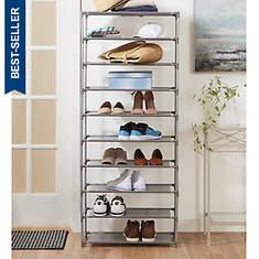 Home Basics 30-Pair Shoe Organizer