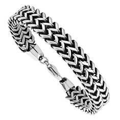 Stainless Steel Antiquing Bracelet (Men's)