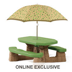 Step2 Playful Picnic Table with Umbrella