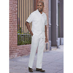 Stacy Adams Men's Linen Set