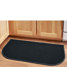 """Solid-Color Berber 18"""" x 36"""" Wedge Rug"""