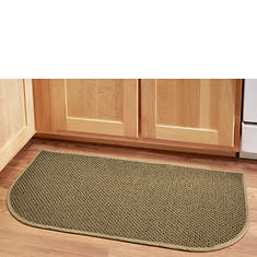 "Solid-Color Berber 18"" x 36"" Wedge Rug"