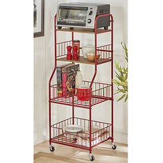 "16.5"" Wide Rolling Storage Cart"
