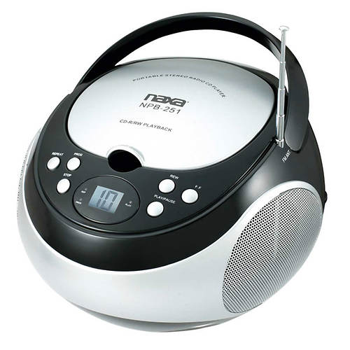 Naxa Portable CD Player with AM/FM Stereo Radio