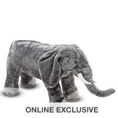 Melissa & Doug Elephant Giant Stuffed Animal