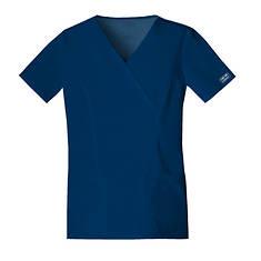 Cherokee Medical Uniforms Workwear Stretch Mock Wrap Top
