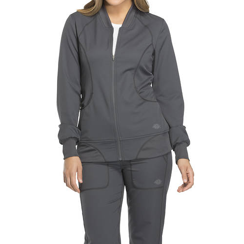 Dickies Medical Uniforms Dynamix-Zip Front Warm-Up Jacket