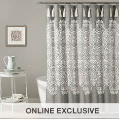 Lush Decor Boho Medallion Shower Curtain
