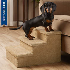 Carpeted Pet Steps