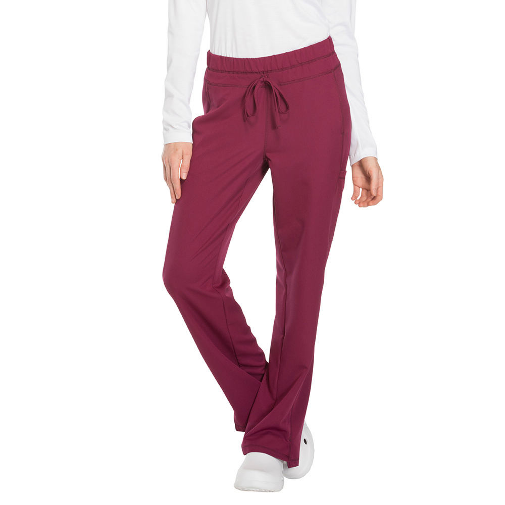 Dickies Medical Uniforms Dynamix- Mid Rise Drawstring Pant Burgundy Pants XS-Regular