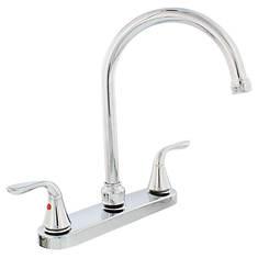 Aqua Plumb Chrome 2-Handle Gooseneck Faucet