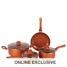 Brentwood 7-Piece Ceramic Aluminum Nonstick Cookware Set