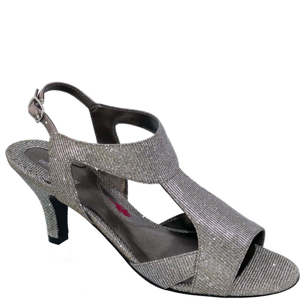 *Elevate your favorite dressy looks with the sleek silhouette of this sultry pump *Leather and fabric upper with adjustable ankle buckle closure *Lightly cushioned footbed *Durable leather outsole *2-1/2\\\