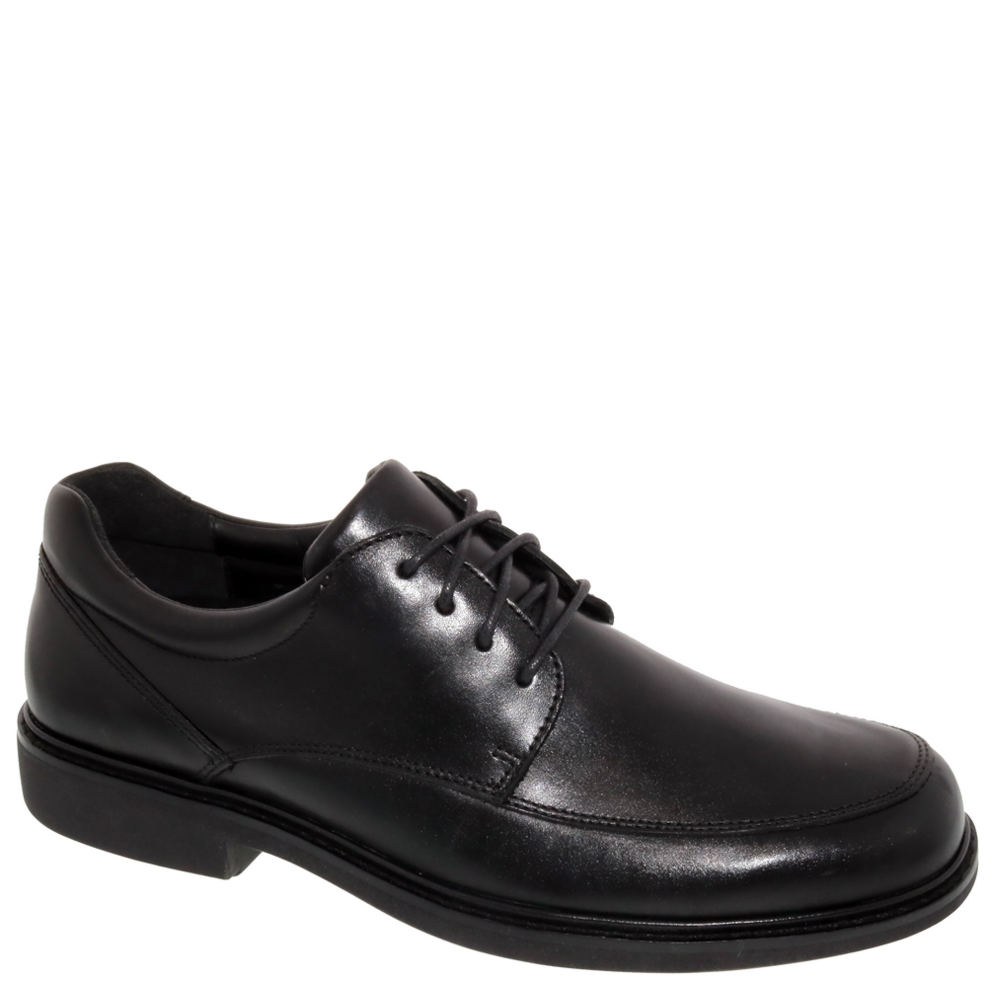 *Keep your sartorial looks sharp with this comfort-oriented dress oxford *Leather upper with lace-up closure *Drilex® and leather linings *Removable polyurethane footbed with maximum build-up arch *Added depth accommodates prescribed orthotics *Extended medial heel stabilizer *Tempered steel shank provides additional support *Flexible lightweight polyurethane outsole