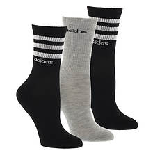 adidas Women's 3-Stripe 3-Pack Crew Socks