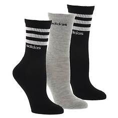 adidas Women's 3-Stripe 3-Pack Crew Socks