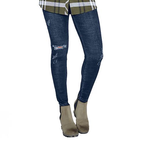 Destructed Denim Skinny Jean