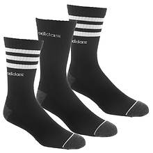 adidas Men's 3-Stripe 3-Pack Crew Socks