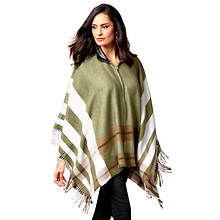 Zip-Up Poncho Sweater