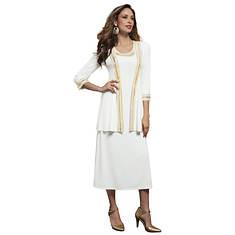 Stud-Embellished Dress Set