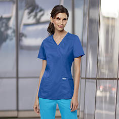 Cherokee Women's Mock Wrap Scrub Top