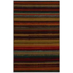 """Mohawk Indoor/Outdoor Avenue Stripe Rug, 90""""x120"""""""