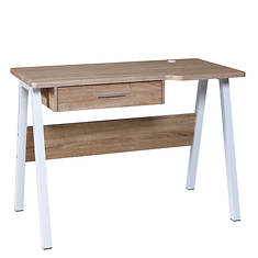 Desk with Drawer and Dual USB
