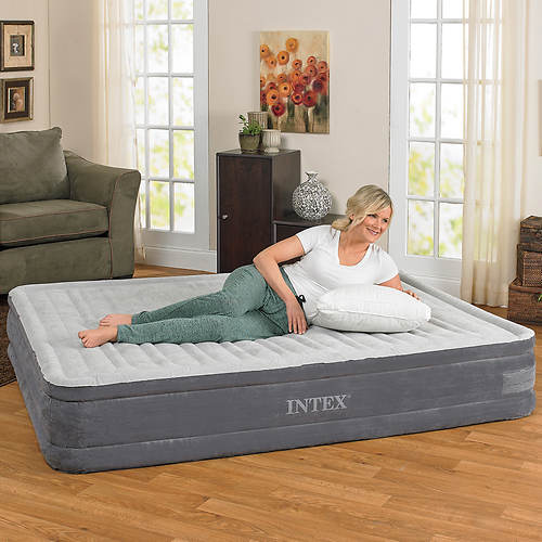 Intex® Comfort Plush Airbed with Built-in Pump