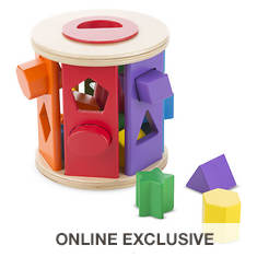 Melissa & Doug Match & Roll Shape Sorter