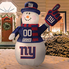 Inflatable NFL Snowman - Opened Item