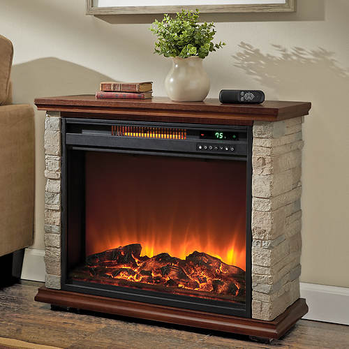 Lifesmart 1500-Watt Polystone Electric Fireplace