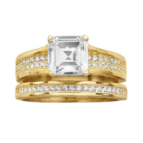 Square Pavé CZ Bridal Set