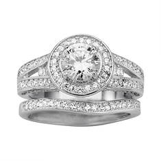 Women's Round Pave CZ Bridal Set