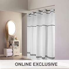Surefit Monterey Hookless Shower Curtain