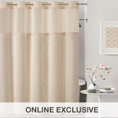 Surefit Mosaic Embroidery Hookless Shower Curtain