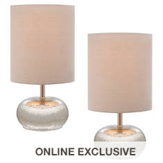 2-Piece Mercury Glass Accent Lamp Set