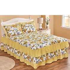 Triple-Ruffle Bedspread